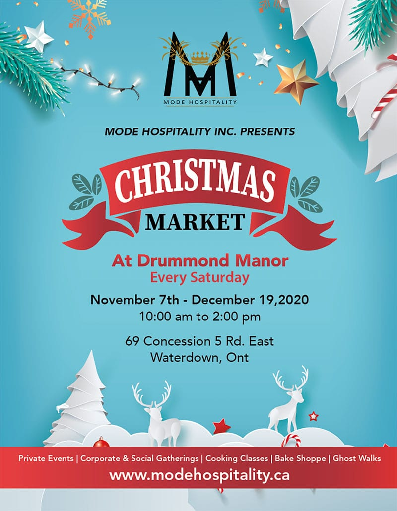 Winter Market in Waterdown and Hamilton by Mode Hospitality