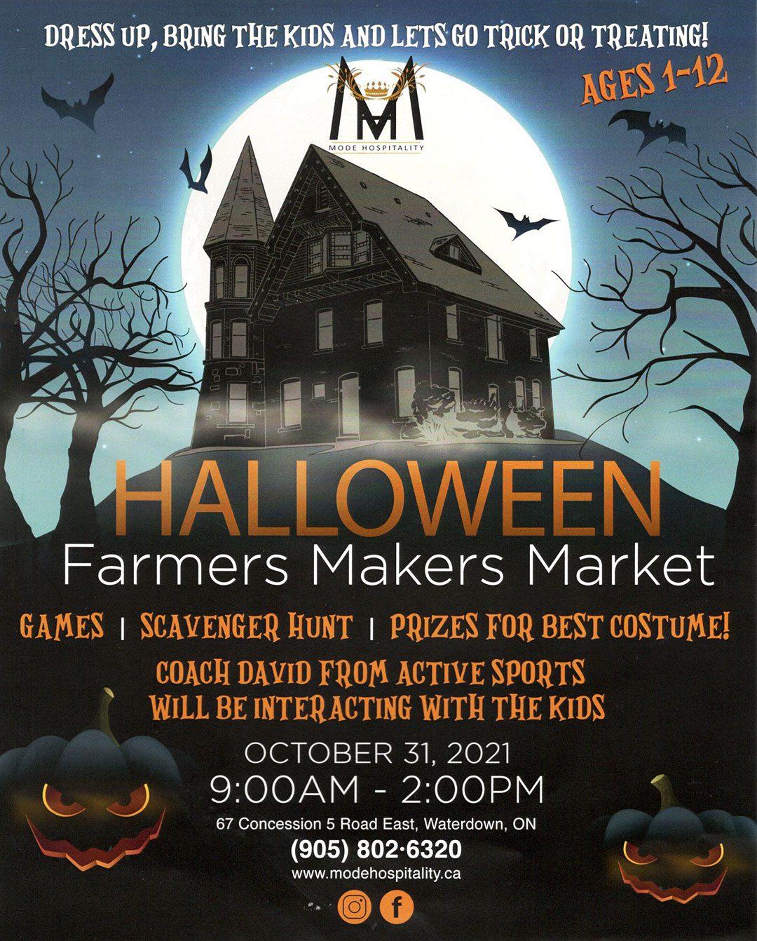 Halloween Farmers Makers Market by Mode Hospitality
